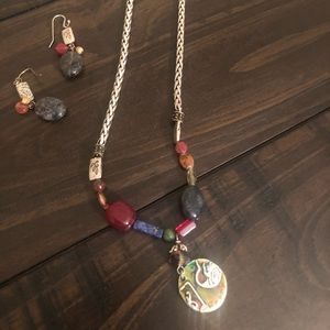 Chico's necklace and earring set